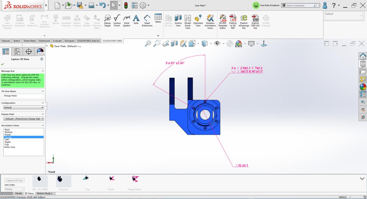 3.创建3D PDF模板—SOLIDWORKS MBD为用户提供可3D PDF模板